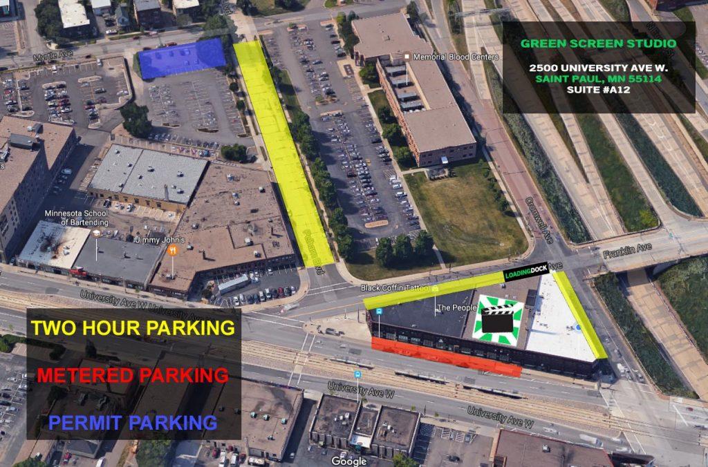 2500 University Ave W. Saint Paul MN Parking Map